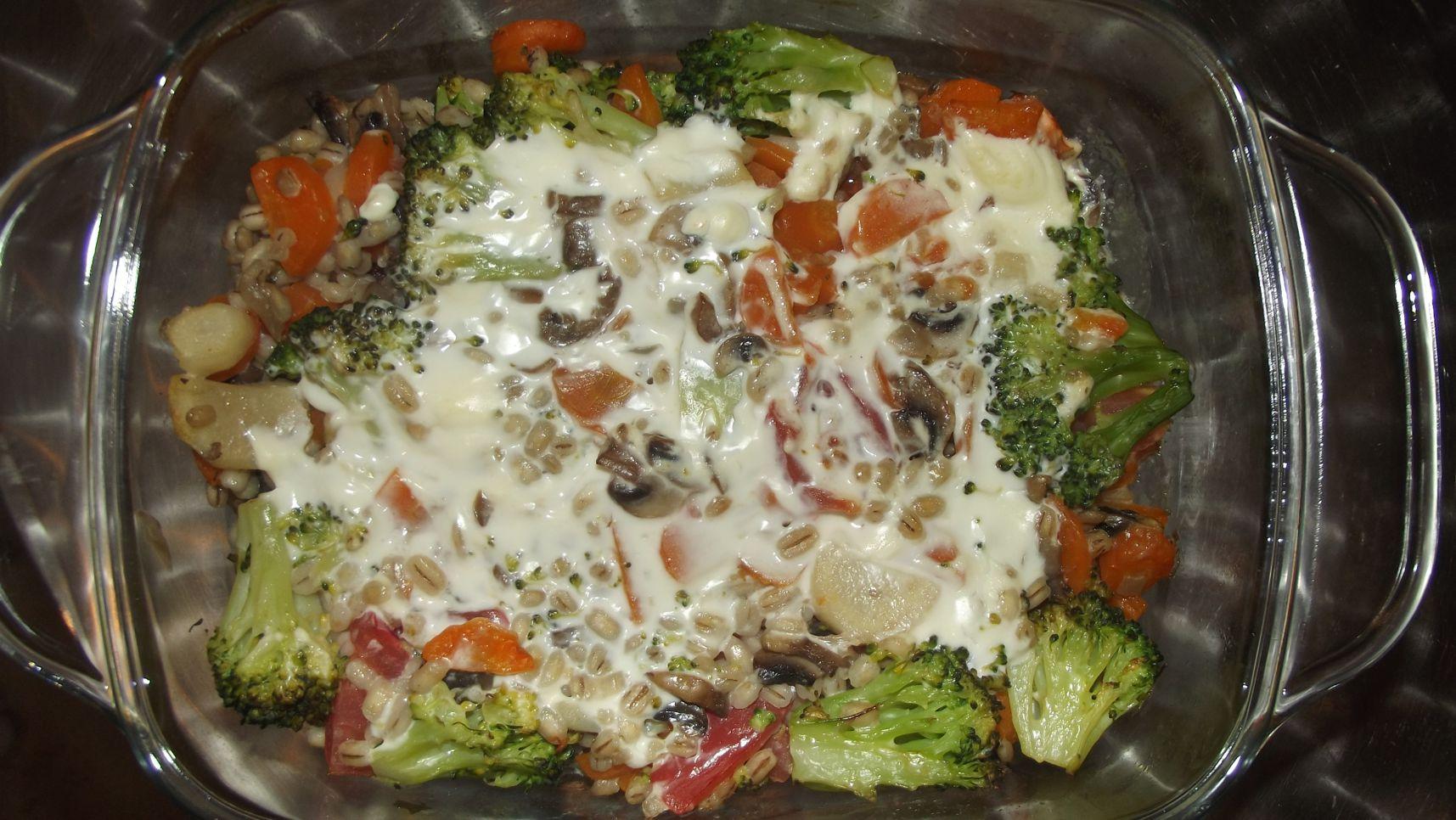 zapiekanka z kaszy i warzyw